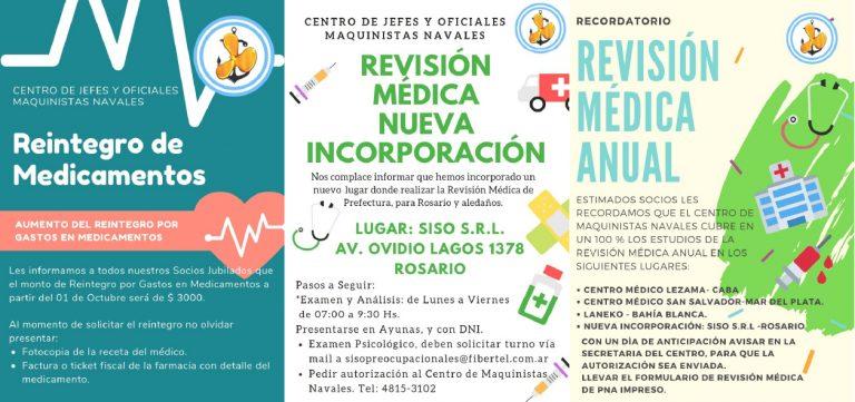 Revision Médica Anual y Reintegro de Medicamentos