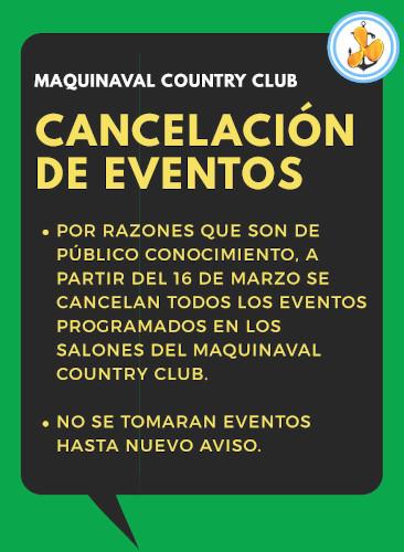 Cancelación Eventos